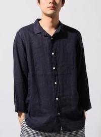 BEAMS リネン 7分袖 カプリシャツ