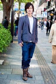 ファッションコーディネート原宿・表参道 2010年11月 加藤輝さん