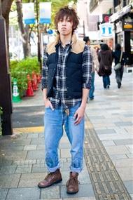 ファッションコーディネート原宿・表参道 2010年11月 菅原千滉さん