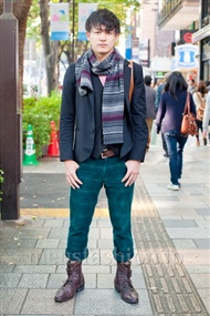 ファッションコーディネート原宿・表参道 2010年11月 浅尾隼大さん