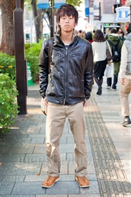 ファッションコーディネート原宿・表参道 2010年11月 平岡諒太さん