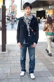 ファッションコーディネート原宿・表参道 2010年12月 勝澤慎平さん