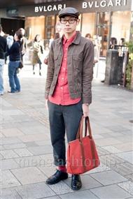 ファッションコーディネート原宿・表参道 2010年12月 松川 修さん