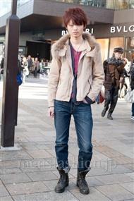 ファッションコーディネート原宿・表参道 2010年12月 ふくもとたくとさん