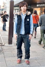 ファッションコーディネート原宿・表参道 2010年12月 ショウさん