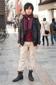 ファッションコーディネート原宿・表参道 2011年1月 岡田純也さん
