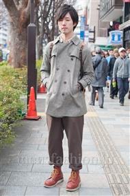 ファッションコーディネート原宿・表参道 2011年2月 荒畑至誠さん