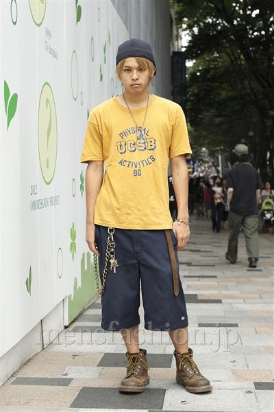ファッションコーディネート原宿・表参道 2011年08月 高木進之介さん