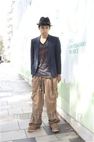 ファッションコーディネート原宿・表参道 2011年10月 高木進之介さん