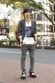 ファッションコーディネート原宿・表参道 2011年11月 上野 亮さん
