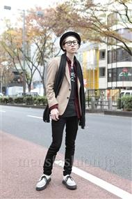 ファッションコーディネート原宿・表参道 2011年12月 富井晃示さん