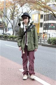 ファッションコーディネート原宿・表参道 2011年12月 青木健真さん