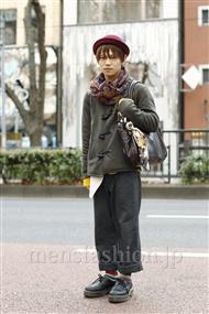 ファッションコーディネート原宿・表参道 2012年01月 夏川登志郎さん