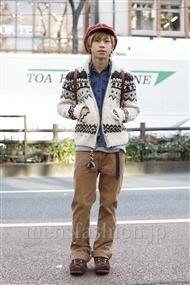 ファッションコーディネート原宿・表参道 2012年01月 大木 光さん