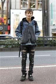 ファッションコーディネート原宿・表参道 2012年01月 沖野真也さん