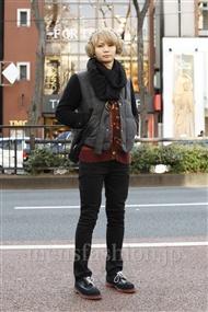 ファッションコーディネート原宿・表参道 2012年01月 根岸亮太さん