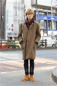 ファッションコーディネート原宿・表参道 2012年01月 永森洸哉さん