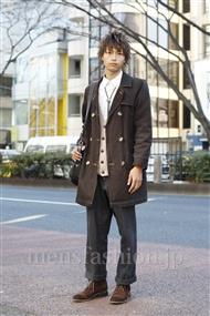 ファッションコーディネート原宿・表参道 2012年01月 梶本祥平さん