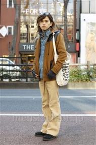 ファッションコーディネート原宿・表参道 2012年01月 小西 涼さん