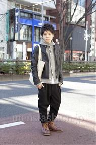 ファッションコーディネート原宿・表参道 2012年02月 小牧卓真さん