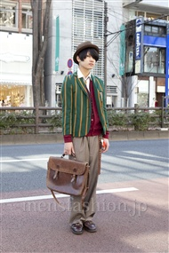 ファッションコーディネート原宿・表参道 2012年02月 赤羽元輝さん