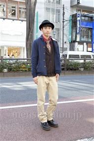 ファッションコーディネート原宿・表参道 2012年02月 笹崎高志さん