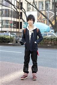 ファッションコーディネート原宿・表参道 2012年02月 池田 優さん