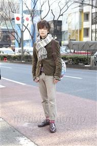 ファッションコーディネート原宿・表参道 2012年02月 中嶋時男さん