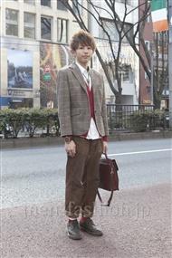 ファッションコーディネート原宿・表参道 2012年03月 大澤一嘉さん