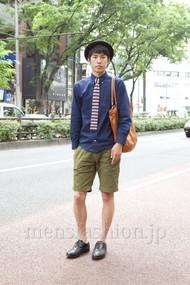 ファッションコーディネート原宿・表参道 2012年05月 笹崎高志さん