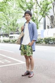 ファッションコーディネート原宿・表参道 2012年06月 河原塚 樹さん