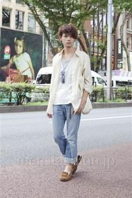 ファッションコーディネート原宿・表参道 2012年08月 藤木亮介さん