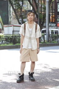 ファッションコーディネート原宿・表参道 2012年08月 炭谷尭人さん