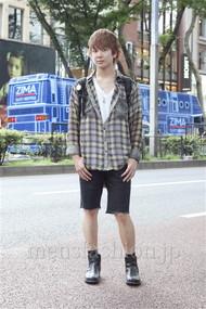 ファッションコーディネート原宿・表参道 2012年08月 須貝昂平さん