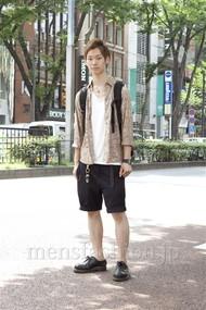 ファッションコーディネート原宿・表参道 2012年08月 山崎直輝さん