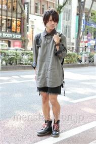 ファッションコーディネート原宿・表参道 2012年09月 夏川登志郎さん