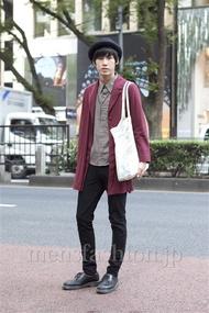 ファッションコーディネート原宿・表参道 2012年10月 笹崎高志さん