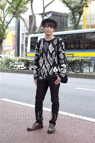 ファッションコーディネート原宿・表参道 2012年10月 石川健介さん