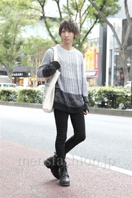 ファッションコーディネート原宿・表参道 2012年10月 平八重拓真さん