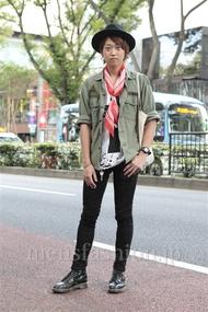 ファッションコーディネート原宿・表参道 2012年10月 山下大智さん