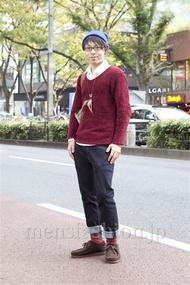 ファッションコーディネート原宿・表参道 2012年11月 尾形大地さん