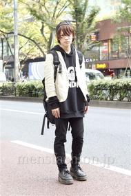 ファッションコーディネート原宿・表参道 2012年11月 夏川登志郎さん