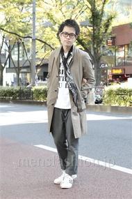 ファッションコーディネート原宿・表参道 2012年11月 増渕雄一さん