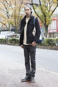 ファッションコーディネート原宿・表参道 2012年12月 早瀬 拓さん