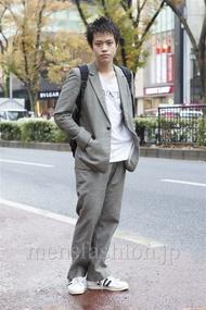 ファッションコーディネート原宿・表参道 2012年12月 増渕雄一さん