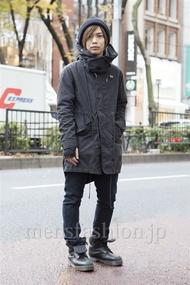 ファッションコーディネート原宿・表参道 2012年12月 炭谷尭人さん