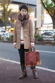 ファッションコーディネート原宿・表参道 2012年12月 桑山巧己さん