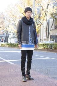 ファッションコーディネート原宿・表参道 2012年12月 笹崎高志さん