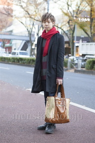ファッションコーディネート原宿・表参道 2012年12月 西村 涼さん