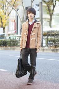 ファッションコーディネート原宿・表参道 2012年12月 五味純一さん